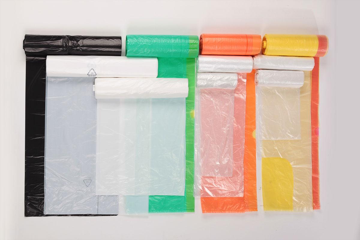 Müllbeutel in allen Farben und Größen. Bedruckt oder unbedruckt, mit oder ohne Zugband, in jeder Stärke
