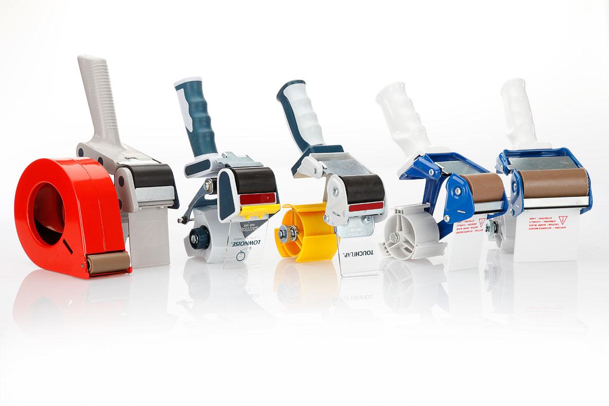 Abrollgeräte – für Klebebänder in 50mm oder 75mm Breite für den manuellen Kartonverschluss