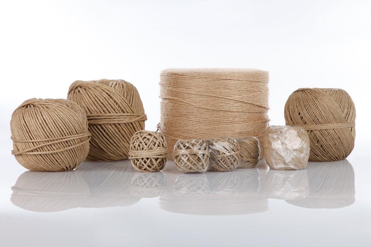 Unsere Bindfäden für den Wiederverkauf sind aus Naturmaterial und Kunststoff