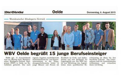 WBV Oelde begrüßt 15 junge Berufseinsteiger