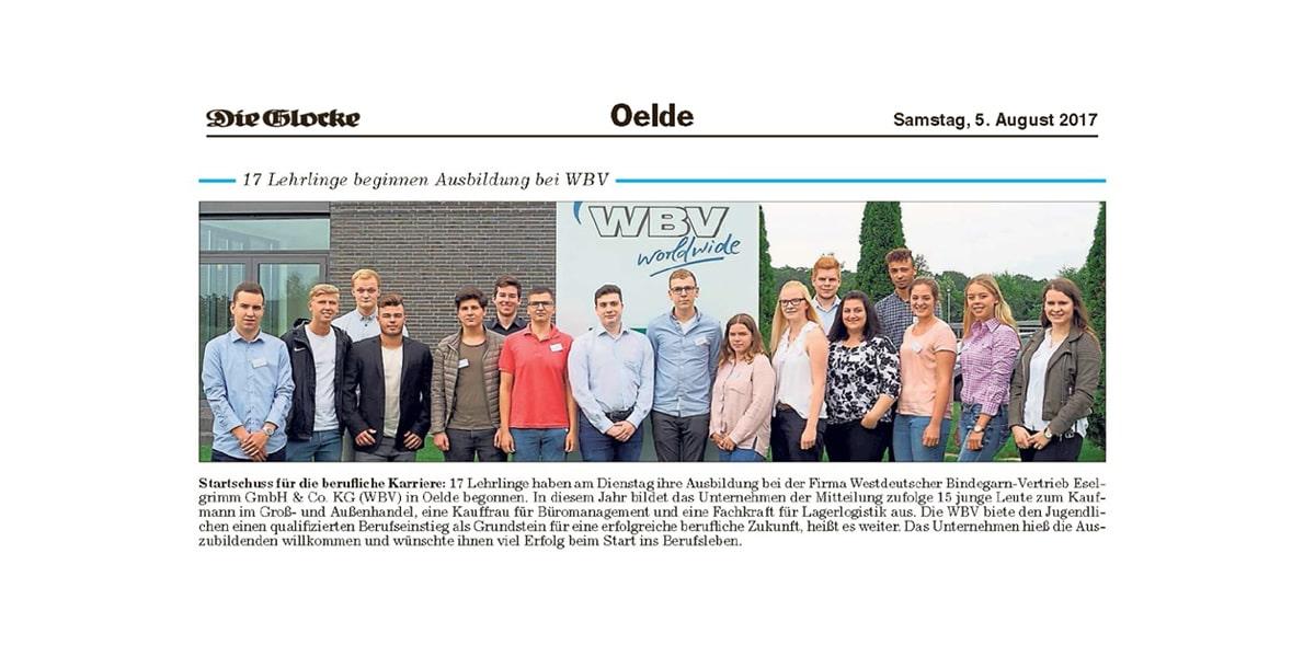 17 Lehrlinge beginnen Ausbildung bei WBV