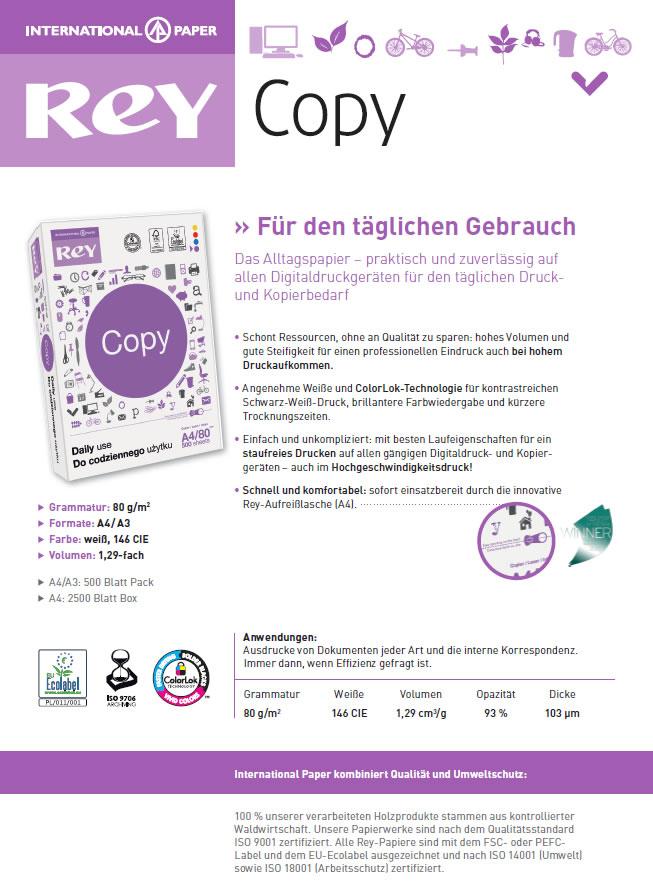 Datenblatt Multifunktions-KopierpapierRey Copy