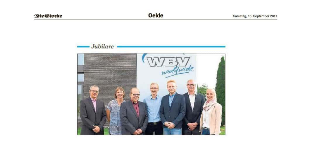 Die Glocke, 16.09.2017: WBV ehrt Mitarbeiter