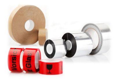 Papier- / Alu-Packbänder bedruckte Packbänder