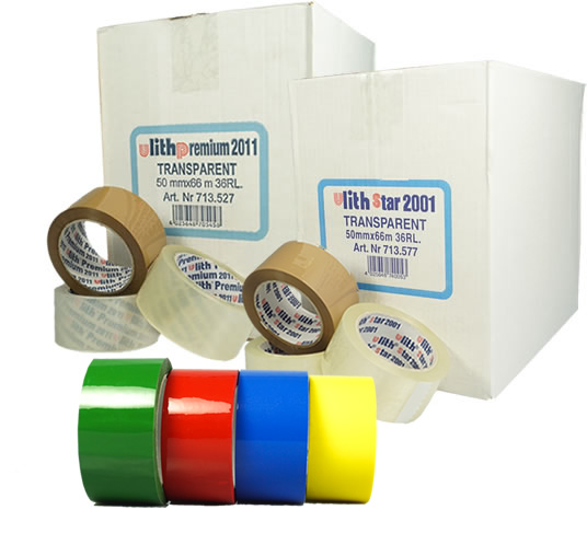 PP packaging tapes, acrylic, low-noise