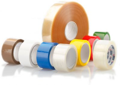 PP- packaging tapes, acrylic, noisy