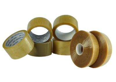 PP packaging tapes, natural rubber, noisy/low noise