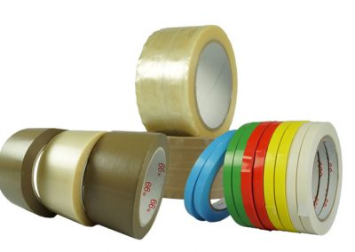 PVC packaging tapes, natural rubber, low noise