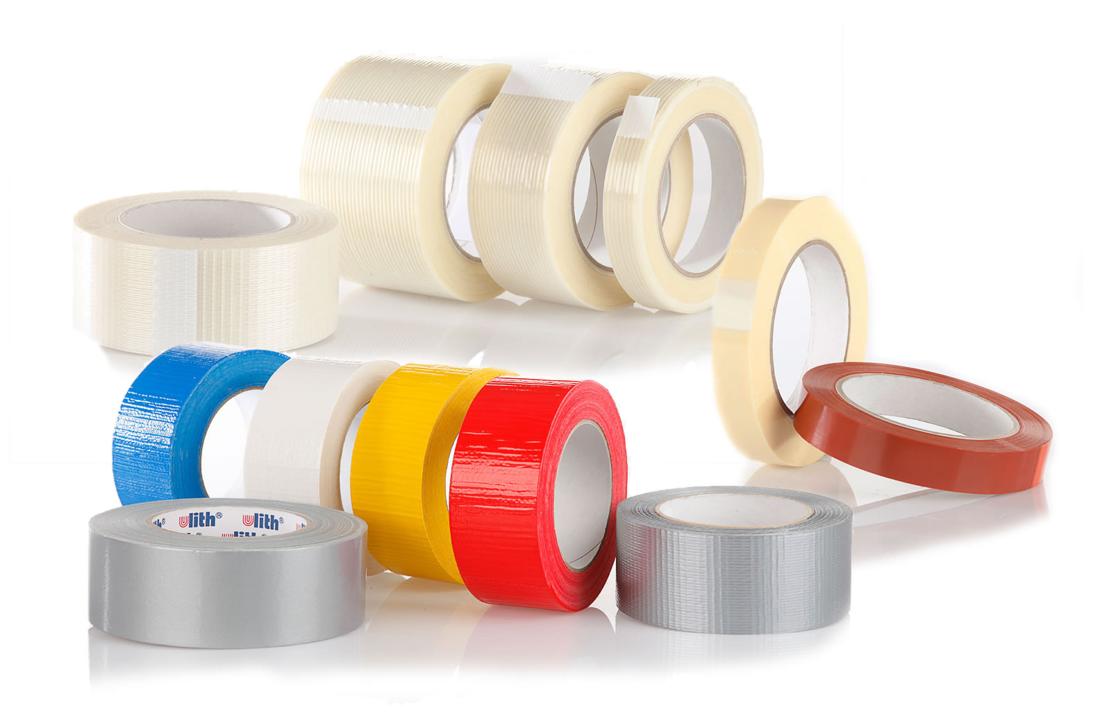 Cloth tape, filament tape, strapping