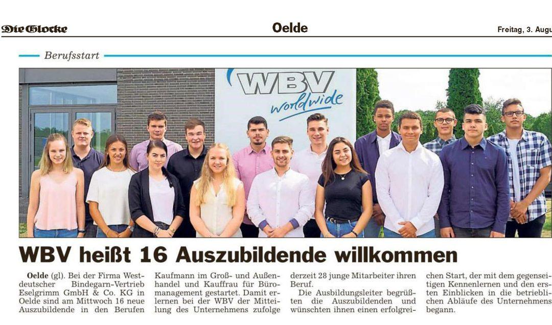 16 neue Auszubildende bei WBV