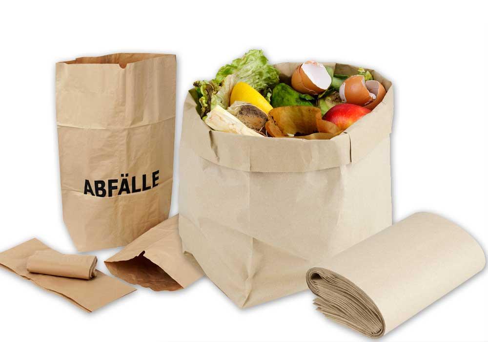 Bio-Tragetaschen und Abfallbeutel aus Papier